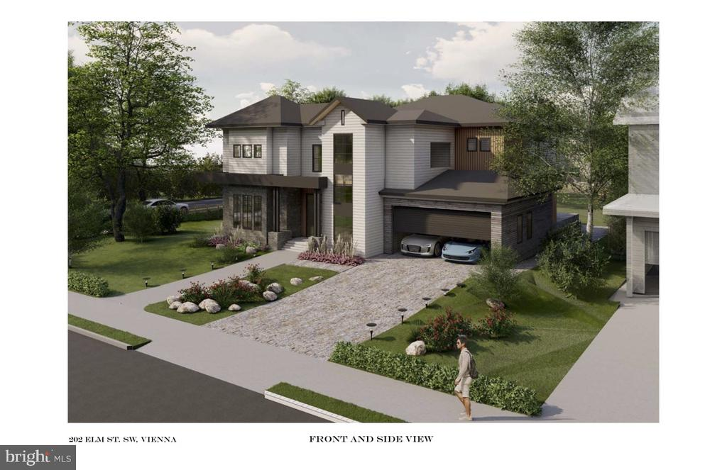 Right side view - rendering - 202 ELM ST SW, VIENNA