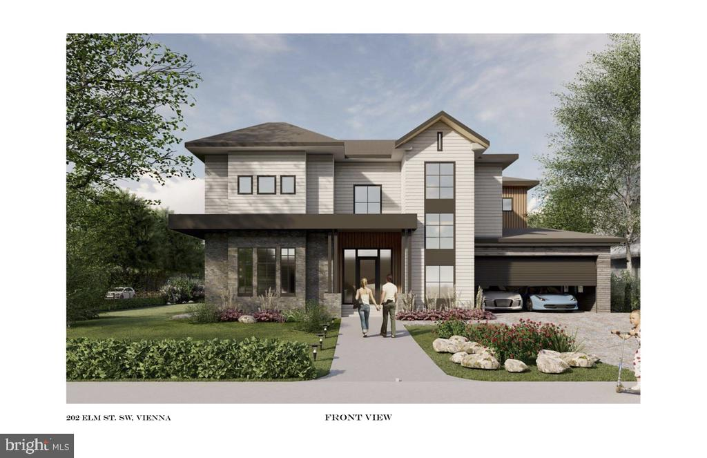 Welcome  HOME! - rendering - 202 ELM ST SW, VIENNA
