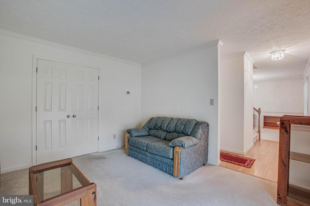 Living Room doors close for privacy in Family Room - 11515 BEND BOW DR, FREDERICKSBURG