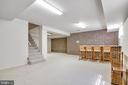 Large Finished Basement with Brick Bar - 8927 BURBANK RD, ANNANDALE