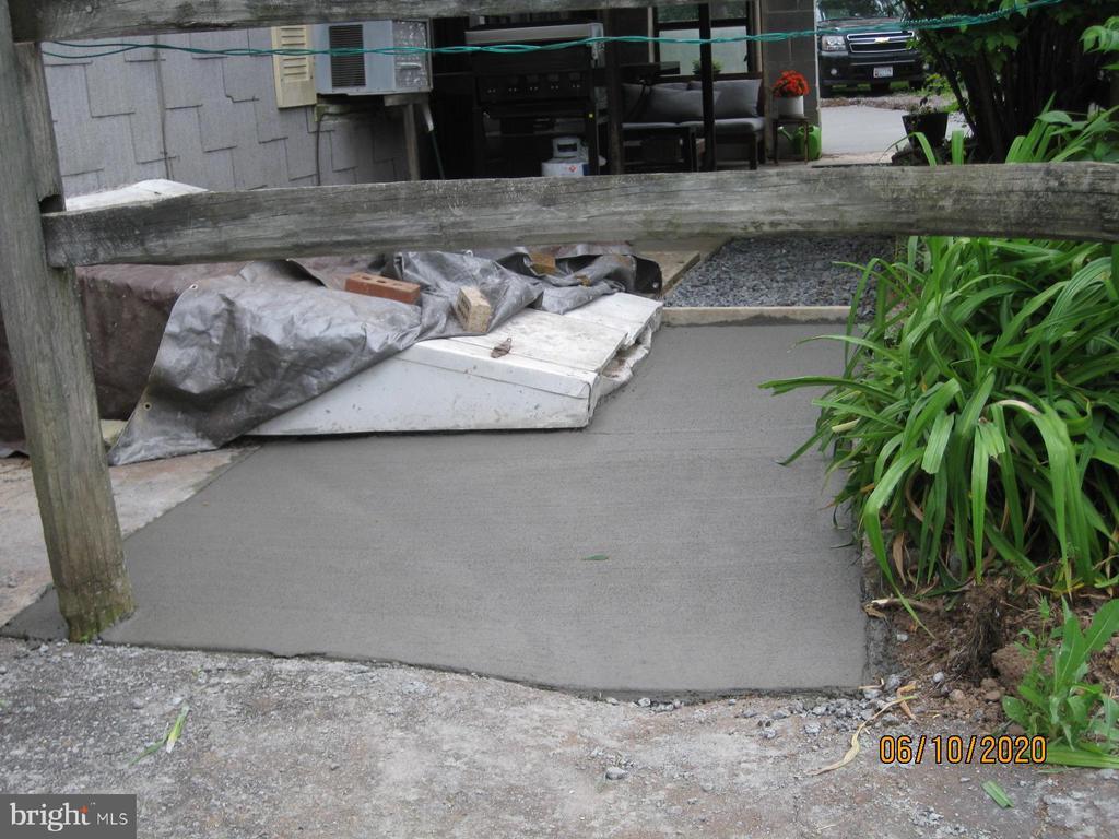 Entrance to Basement  & Sidewalk area restored - 11020 HESSONG BRIDGE RD, THURMONT