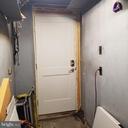 Garage back door - New Door, just add trim - 11020 HESSONG BRIDGE RD, THURMONT
