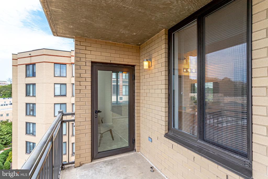 Balcony with private outdoor space. - 2220 FAIRFAX DR #803, ARLINGTON
