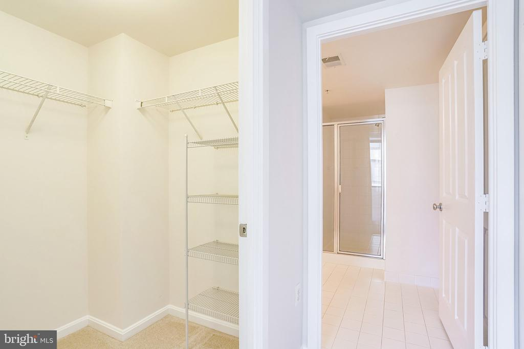 Generously sized walk-in closet in primary suite. - 2220 FAIRFAX DR #803, ARLINGTON