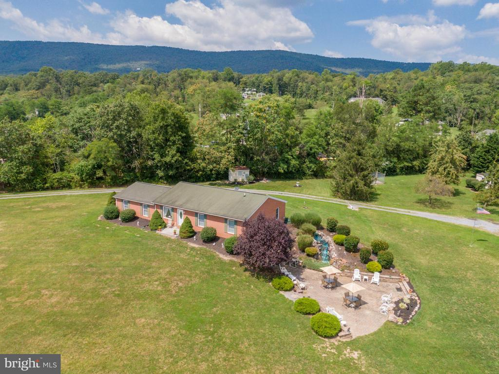 Drone view of patio area side of home - 140 BOWMAN LN, WINCHESTER