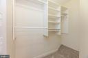 Custom closet in 1st primary bedroom - 47642 WINDRIFT TER, STERLING
