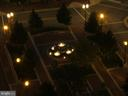 View from living room of courtyard at night - 2151 JAMIESON AVE #2109, ALEXANDRIA