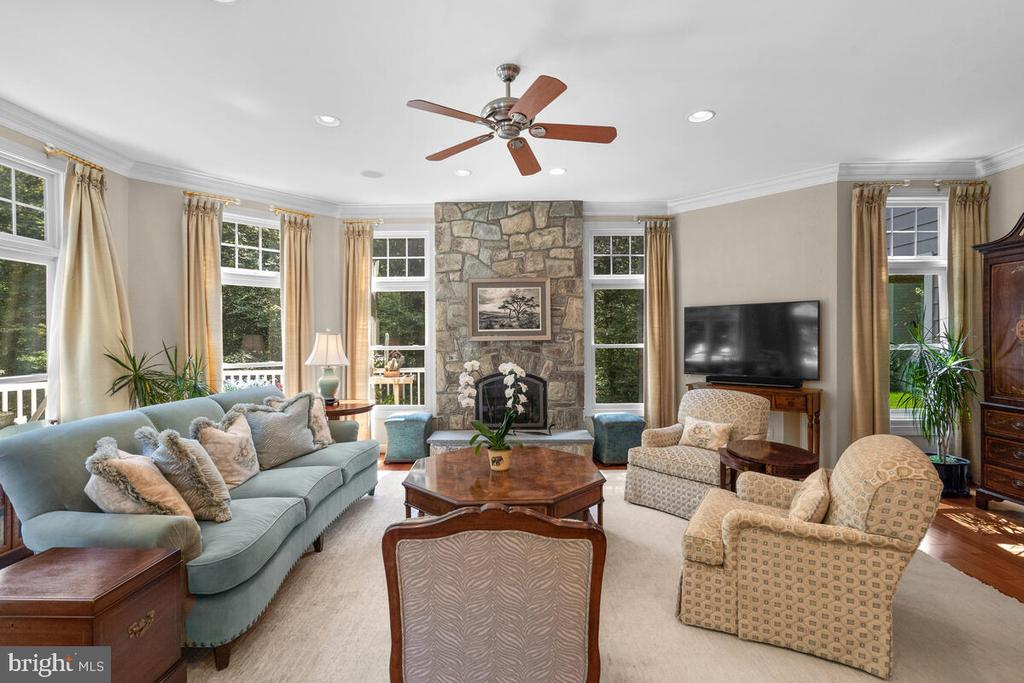 Family Room w Masonry Fireplace - 20260 ISLAND VIEW CT, STERLING