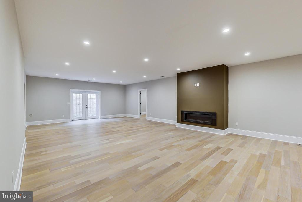 Recreation Room with Fireplace, lower level - 3104 SLEEPY HOLLOW RD, FALLS CHURCH