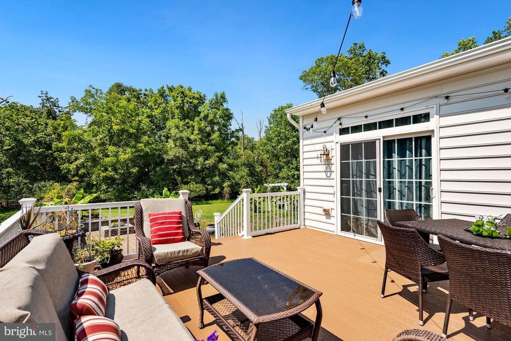 Beautiful Deck Overlooking Your Backyard Sanctuary - 41192 BLACK BRANCH PKWY, LEESBURG