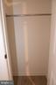 Lower Level Bedroom (#3) Closet - 11415 HOLLOW TIMBER WAY, RESTON