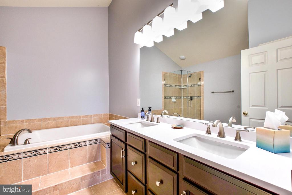 Double sinks and upgraded vanity and fixtures - 25659 TREMAINE TER, CHANTILLY