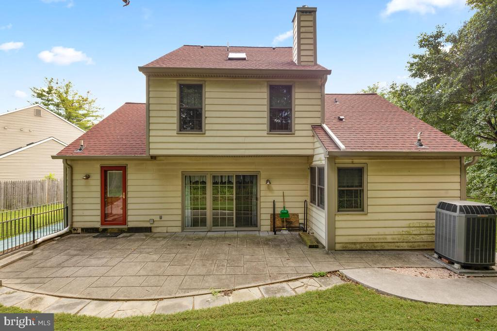 Exterior Rear View with Spacious Patio - 3000 BEETHOVEN WAY, SILVER SPRING