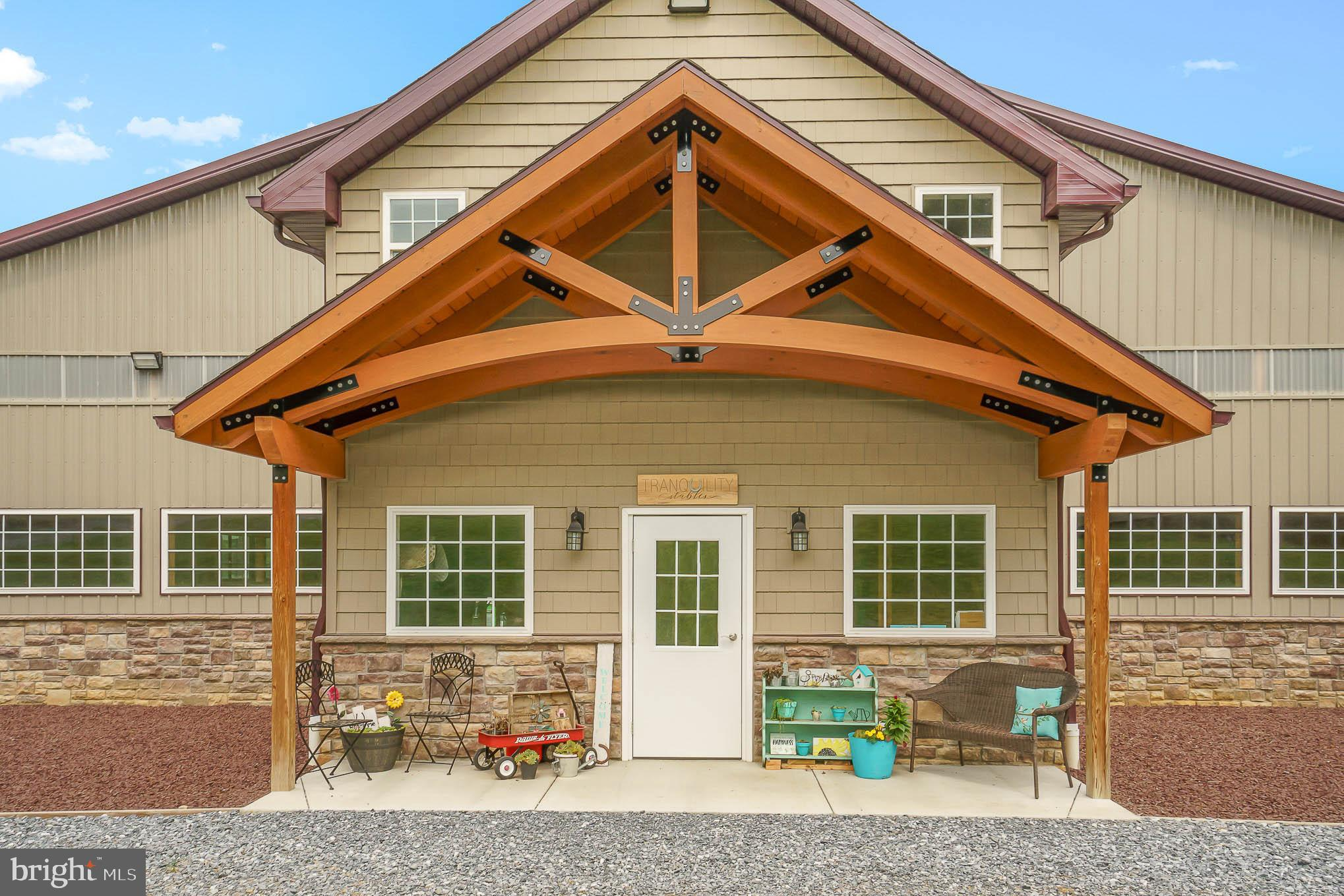 Custom barn front to match the home