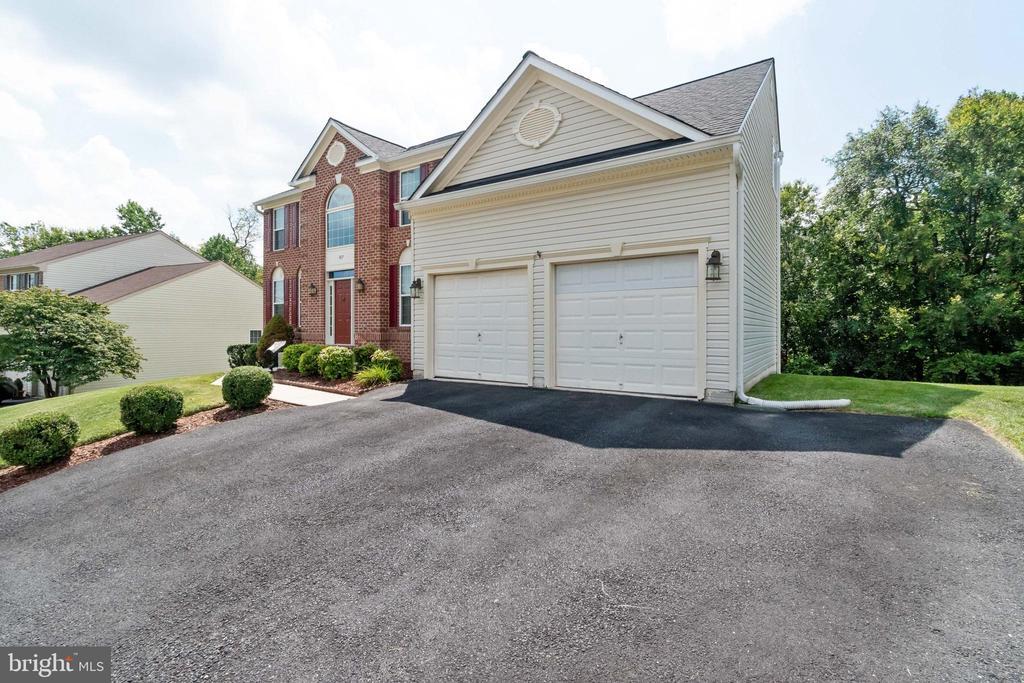 Front View w/Expanded Driveway &  2 Door Garage - 7617 STRATFIELD LN, LAUREL