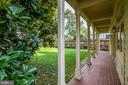 Gorgeous  veranda�in the backyard - 6112 WOODMONT RD, ALEXANDRIA