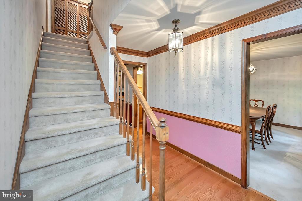 Stairs to upper levels - 9704 PAMELA CT, SPOTSYLVANIA