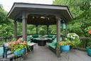 DECK GAZEBO WITH FAN AND LIGHT - 10203 BRITTENFORD DR, VIENNA