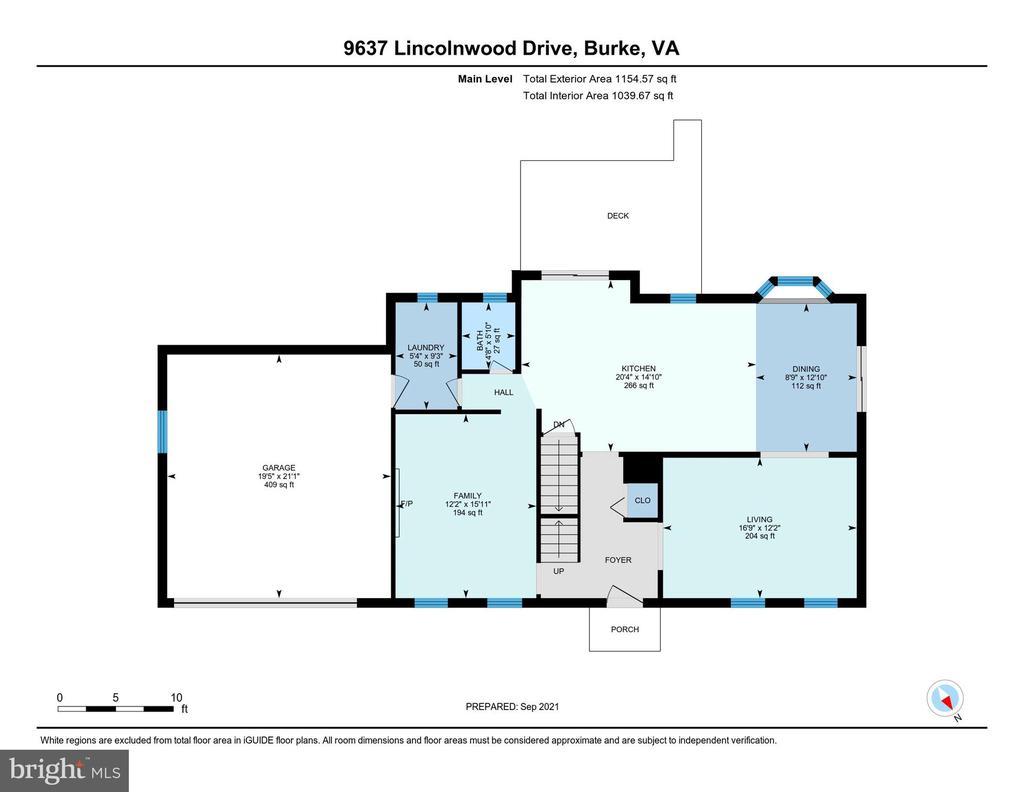 Floor Plan - Main Level - 9637 LINCOLNWOOD DR, BURKE
