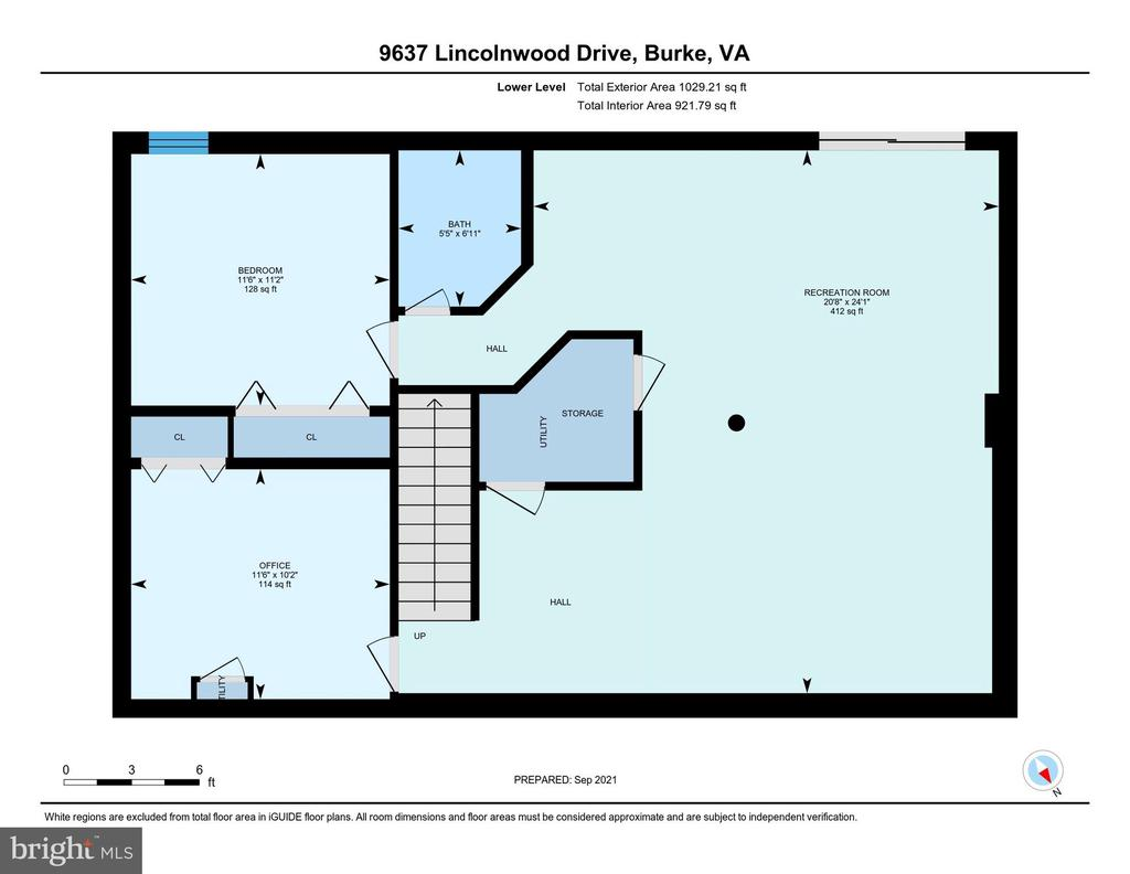 Floor Plan - Lower Level - 9637 LINCOLNWOOD DR, BURKE