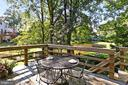 Deck off kitchen perfect for morning coffee - 9637 LINCOLNWOOD DR, BURKE