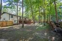 Back yard entirely fenced - 12400 TOLL HOUSE RD, SPOTSYLVANIA