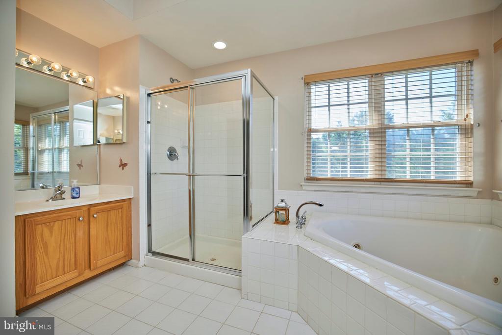 Primary Bathroom with Jetted Soaking Tub - 9032 PADDINGTON CT, BRISTOW