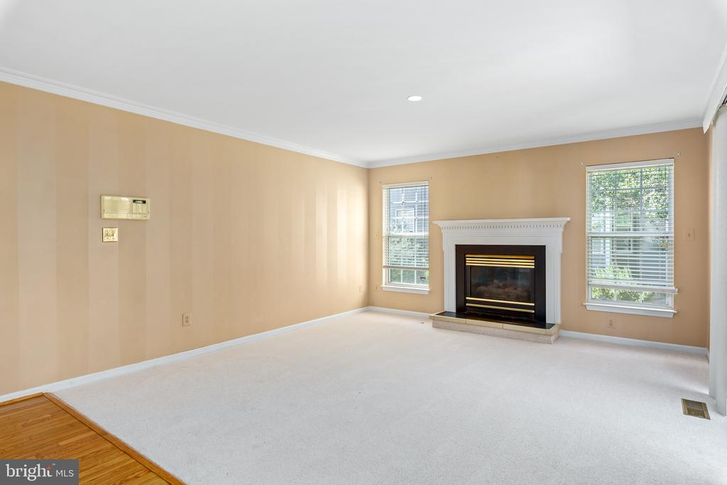 Family Room Gas Fireplace - 46490 CEDARHURST DR, STERLING
