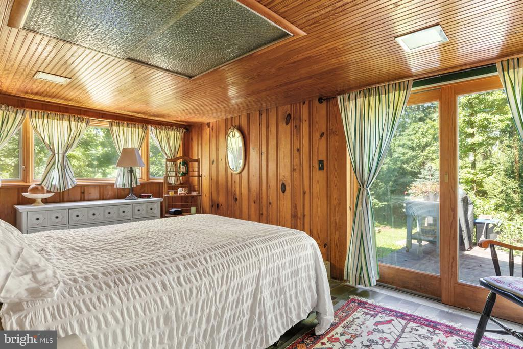 MAIN BEDROOM OPENS TO PATIO - INCREDIBLE VIEWS - 19079 BLUERIDGE MOUNTAIN RD, BLUEMONT