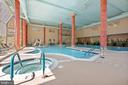 The indoor pool - 19375 CYPRESS RIDGE TER #711, LEESBURG