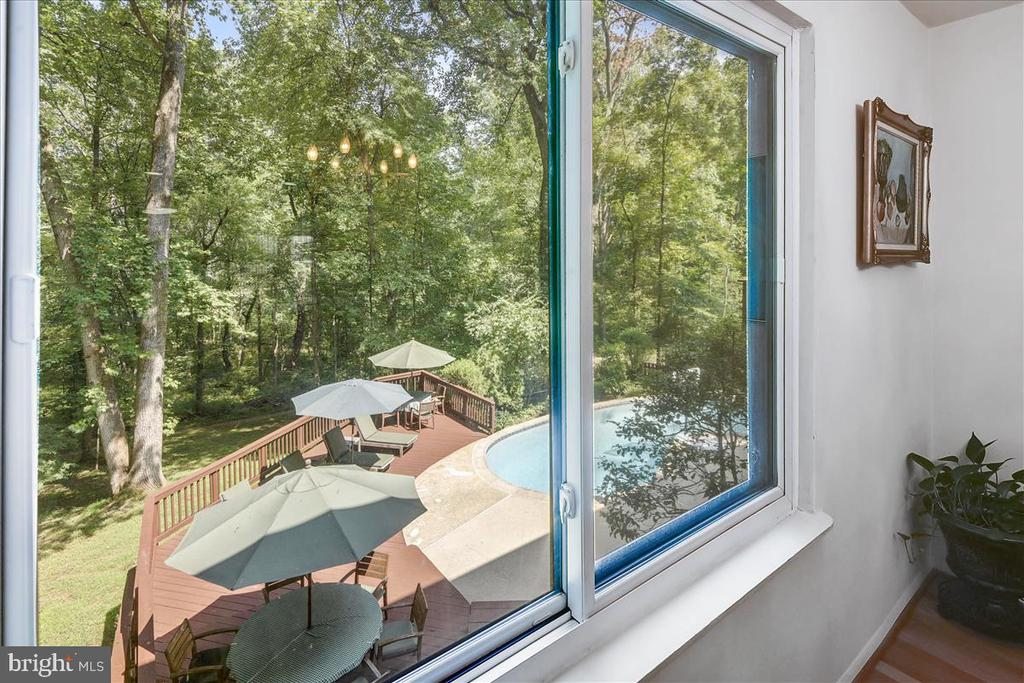 Looking out of dining room window - 10722 CROSS SCHOOL RD, RESTON