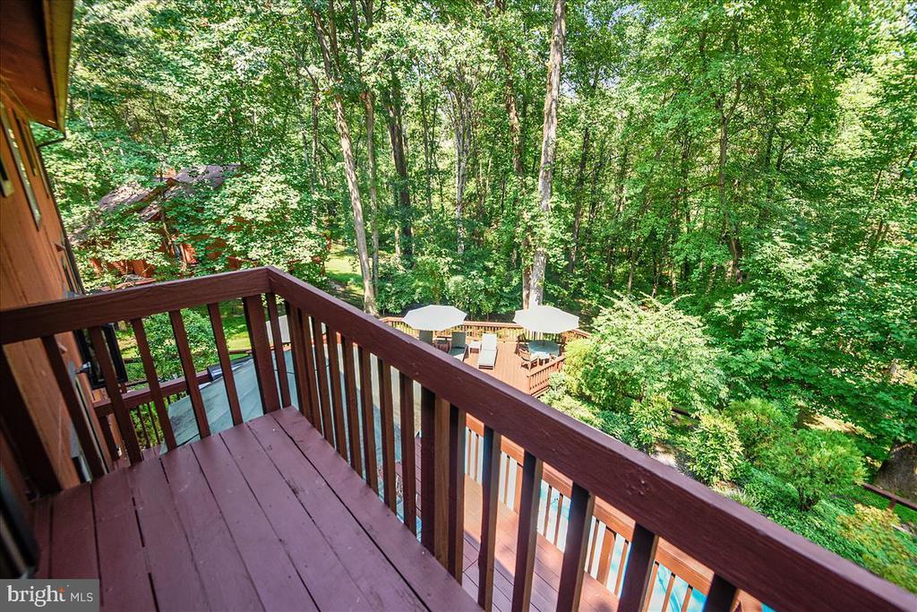 Primary bedroom balcony view - 10722 CROSS SCHOOL RD, RESTON