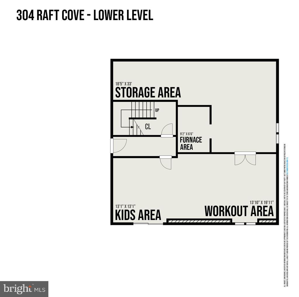 Lower Level Floorplan - 304 RAFT CV, STAFFORD