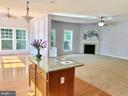 Open kitchen with center island - 18494 QUANTICO GATEWAY DR, TRIANGLE