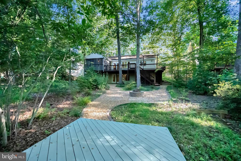 Looking back at the house from the dock - 110 CUMBERLAND CIR, LOCUST GROVE