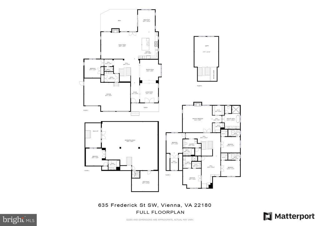 Full floor plan - 635 FREDERICK ST SW, VIENNA