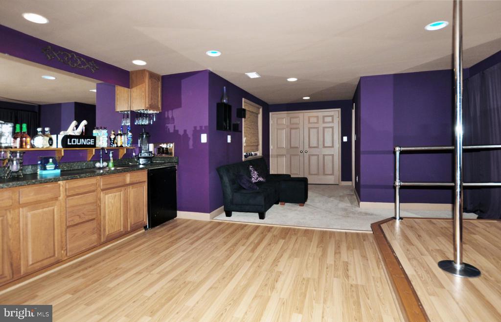 Full wet bar with fridge & full bath! - 15305 LIONS DEN RD, BURTONSVILLE