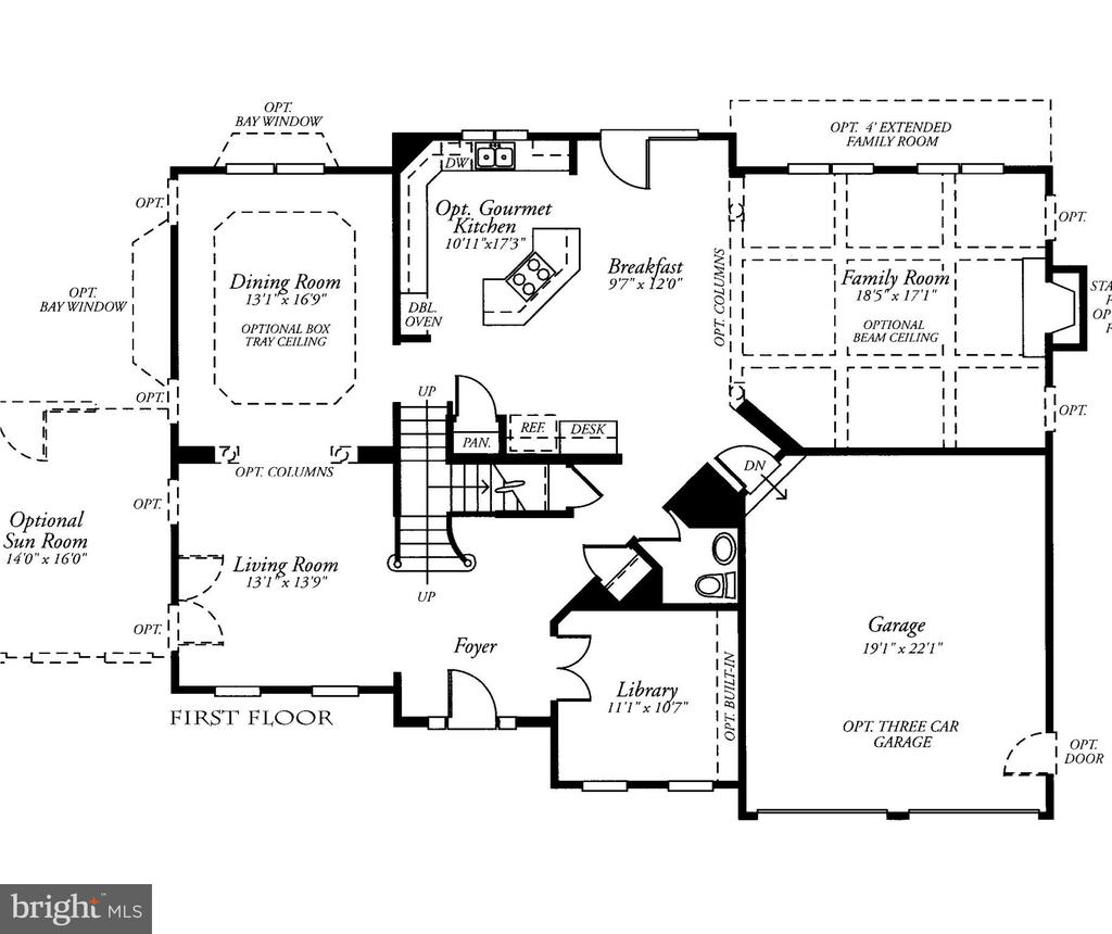 Main Level Floor Plan Includes FR Extension - 22554 FOREST RUN DR, ASHBURN