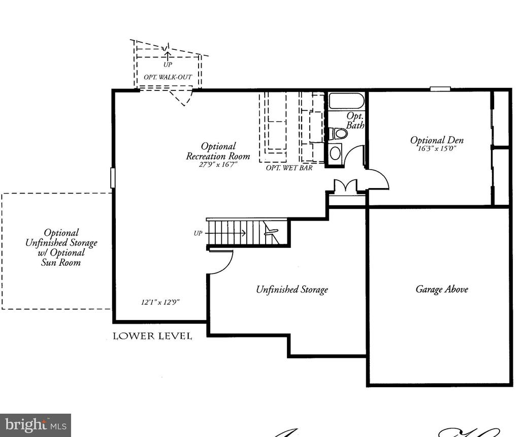 Lower Level Floor Plan includes 5th Bedroom - 22554 FOREST RUN DR, ASHBURN