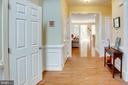 Entry hall looking all the way back to Sunroom - 25891 MCKINZIE LN, CHANTILLY