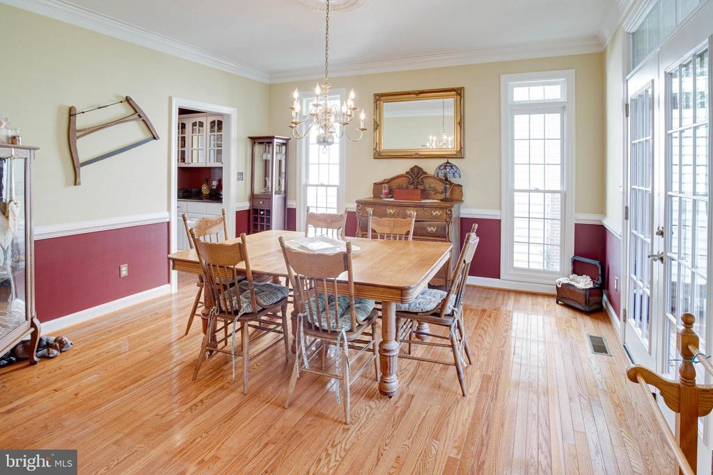 Dining Room view from Living Room - 25891 MCKINZIE LN, CHANTILLY