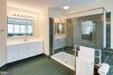 Beautiful Walk-in Shower with new glass doors - 25891 MCKINZIE LN, CHANTILLY