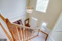 View of Two-Story Foyer from upper Hall - 25891 MCKINZIE LN, CHANTILLY