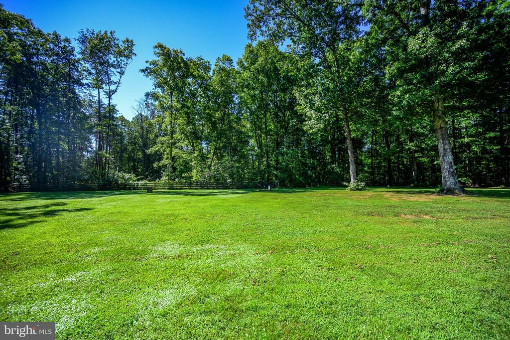 Private level backyard - 12812 ORANGE PLANK RD, LOCUST GROVE