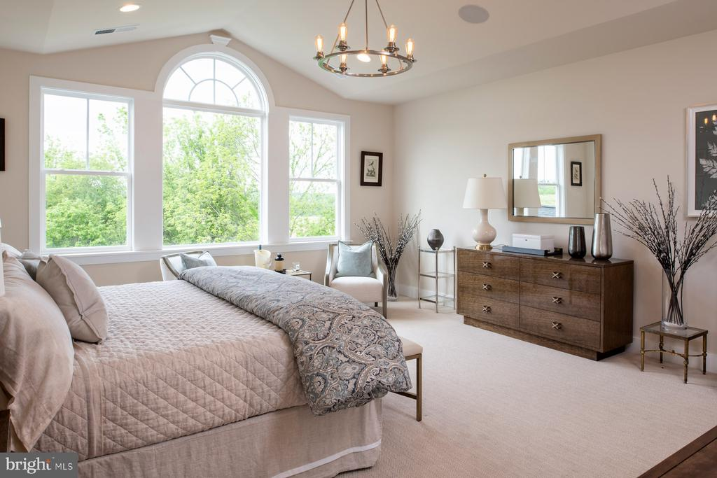 Owner's suite with vaulted ceiling - 17711 AIRMONT RD, ROUND HILL