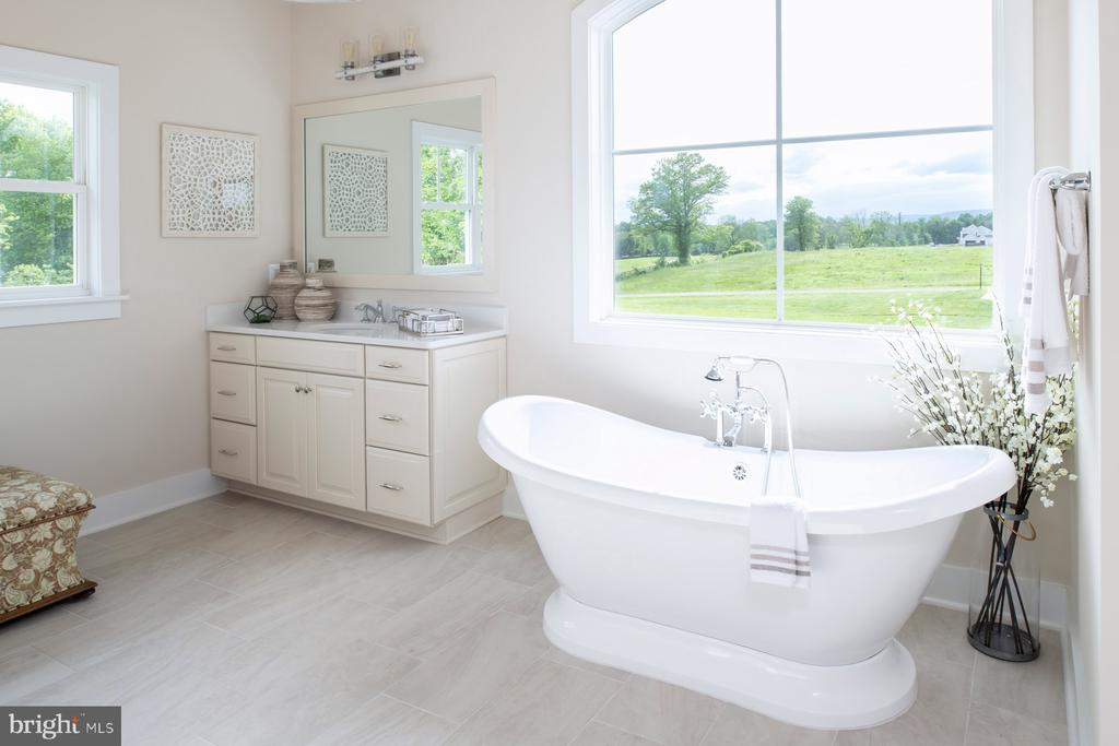 Owner's bath with freestanding plinth tub - 17711 AIRMONT RD, ROUND HILL