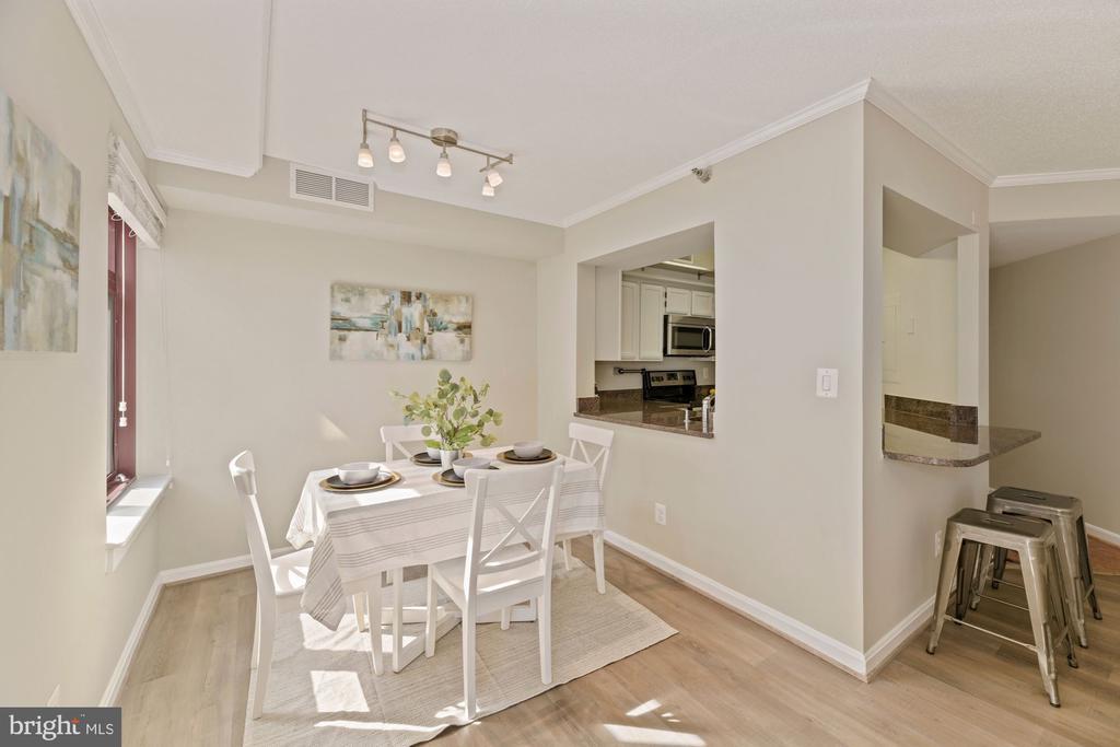 Separate dining area - 2400 CLARENDON BLVD #505, ARLINGTON
