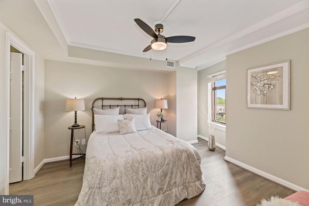Spacious primary bedroom - 2400 CLARENDON BLVD #505, ARLINGTON