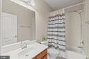Upstairs Full Hall Bathroom - 19406 COPPERMINE SQ, LEESBURG