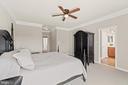 Primary Suite w/Balcony & 2 Walk - In Closets - 19406 COPPERMINE SQ, LEESBURG